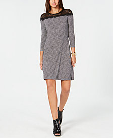 MICHAEL Michael Kors Mini Tweed Lace Dress, In Regular & Petites