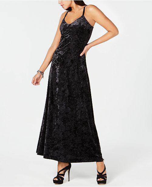 9b08e10bc41 Michael Kors Crushed Velvet Maxi Dress   Reviews - Dresses - Women ...
