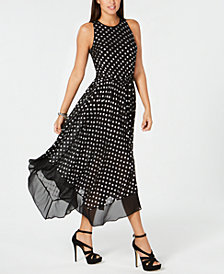 MICHAEL Michael Kors Printed Handkerchief-Hem Dress