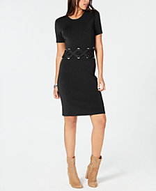 MICHAEL Michael Kors Lace-Up Sweater Dress
