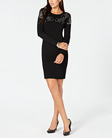MICHAEL Michael Kors Embellished Ponté-Knit Dress