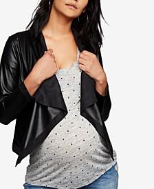 Maternity Draped Jacket