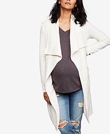 BB Dakota Maternity Draped Cotton Jacket