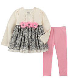 Kids Headquarters Toddler Girls 2-Pc. 3D Flower Tunic & Leggings Set