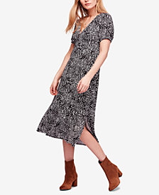 Free People Looking For Love Printed Empire-Waist Dress