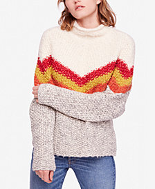 Free People Turn Around Tunic Striped Sweater