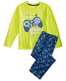 Max & Olivia Little & Big Boys 2-Pc. Gaming-Print Pajama Set