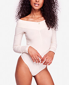 Free People Zone Out Off-The-Shoulder Thong Bodysuit