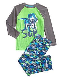 Max & Olivia Little & Big Boys 2-Pc. Sup Dinosaur Pajama Set