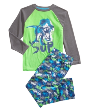 Max  Olivia Little  Big Boys 2Pc Sup Dinosaur Pajama Set