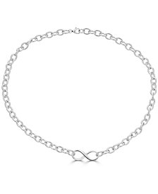 "Infinity 18"" Collar Necklace in Sterling Silver"