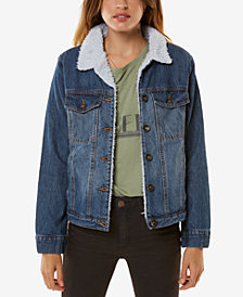 O'Neill Juniors' Clemente Cotton Denim Trucker Jacket