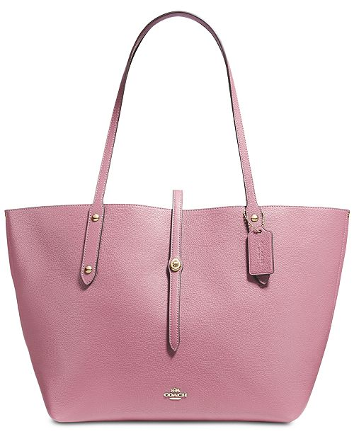 aed018bc29 COACH Market Tote in Polished Pebble Leather & Reviews ...