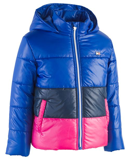 5b25272179d Tommy Hilfiger Toddler Girls Hooded Colorblocked Puffer Jacket ...