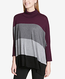 Calvin Klein Colorblocked Dolman-Sleeve Sweater