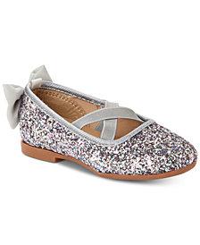 Osh Kosh Toddler & Little Girls Vashti Glitter Ballet Flats