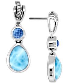 Marahlago Multi-Stone Drop Earrings in Sterling Silver