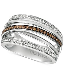 Chocolatier® Diamond Multi-Band Crisscross Ring (3/8 ct. t.w.) in 14k White Gold
