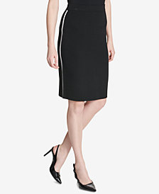 Calvin Klein Side-Stripe Pencil Skirt
