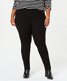 Tommy Hilfiger Plus Size Ponte Skinny Pants, Created for Macy's
