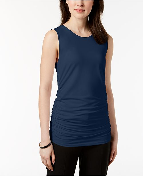 Alfani Petite Ruched Tank Top, Created for Macy's