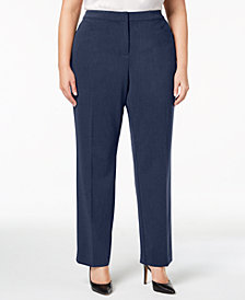 Alfani Plus Size Straight-Leg Pants, Created for Macy's