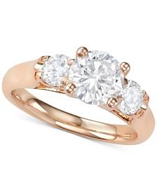 Diamond Three-Stone Ring (2-1/10 ct. t.w.)