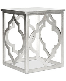 Milo Trellis Leaf End Table, Quick Ship