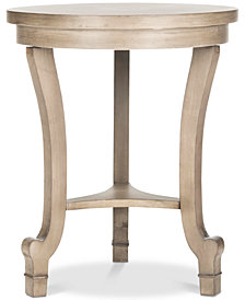 Monty Round Top End Table, Quick Ship
