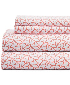Coastal Embroidered 4-Pc. King Sheet Set