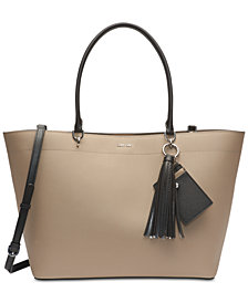 Calvin Klein Susan Leather Oversized Tote
