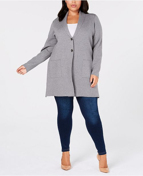 0269cf2a5b1 ... Charter Club Plus Size Sweater Blazer