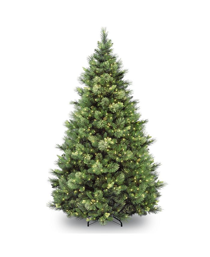National Tree Company - National Tree 9' Carolina Pine Tree with 900 Clear Lights