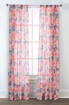 Sara B Calypso Printed Sheer Curtain Panel Set, 95 in