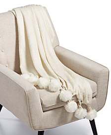 "Lacourte Finn 50"" x 60"" Pom Pom Throw, Created for Macy's"