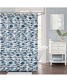 """Sanibel 72"""" x 72"""" Faux-Linen Shower Curtain"""