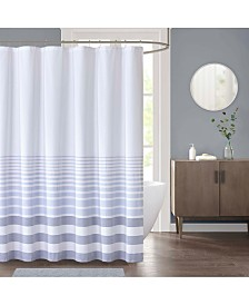 "Décor Studio Pilot Stripe 72"" x 72"" Shower Curtain"