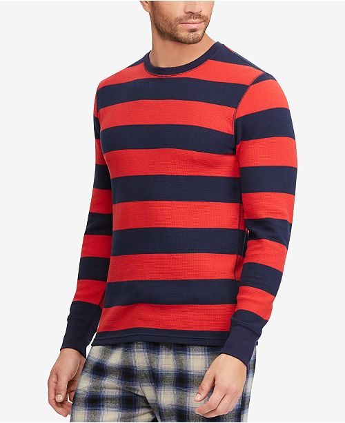 577a7f9e Polo Ralph Lauren Men's Striped Waffle-Knit Thermal & Reviews ...