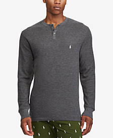 Polo Ralph Lauren Men's Waffle-Knit Henley Thermal