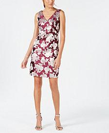 Nine West Floral Jacquard A-Line Dress