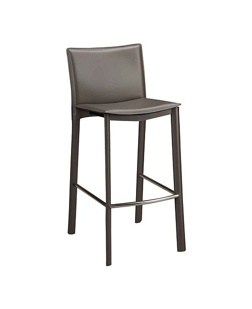 """Moe's Home Collection Panca Counter Stool 26"""" Charcoal"""