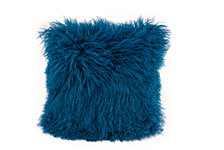 Lamb Fur Pillow, Blue