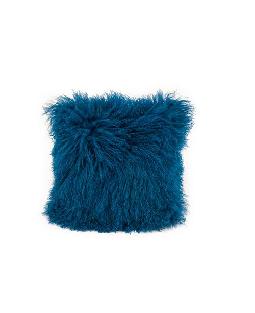 Moe's Home Collection Lamb Fur Pillow Blue
