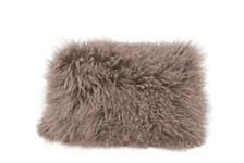 Lamb Fur Pillow Rect. Gray