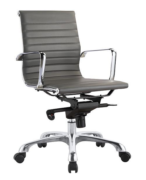 Moe S Home Collection Omega Office Chair Low Back Gray Reviews Home Macy S