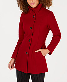 Nautica Hooded Single-Breasted Coat
