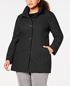 Nautica Plus Size Stand-Collar Peacoat
