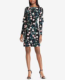 American Living Floral-Print Layered Dress