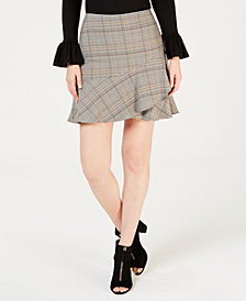 Trina Turk Plaid Mini Skirt