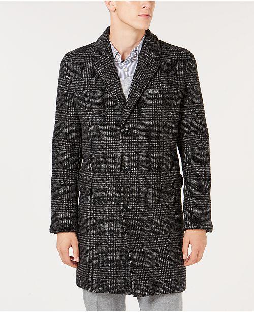 b413366b4bc Michael Kors Men s Classic Regular Fit Black   White Glen Plaid Top ...